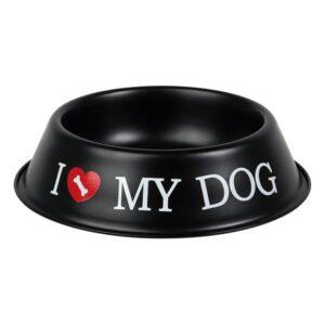 Comedouro preto para Cães