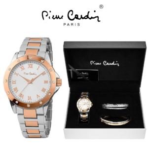 Conjunto Pierre Cardin® Relógio | 4 Pulseiras | Gold & Silver