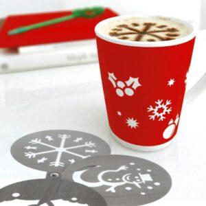 Conjunto de Modelos Natalícios para Café (3 pcs)