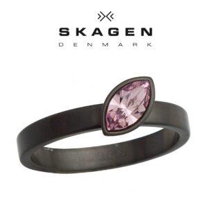 Anel Skagen® JRSM034 Com Cristal Swarovski | Tamanho 57