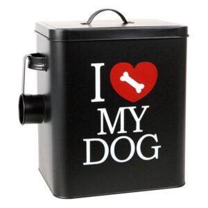 Recipiente metálico de comida de Cão