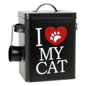 Recipiente metálico de comida de Gato