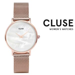 Relógio Cluse® Minuit Mesh Rose Gold White Pearl | 33 mm