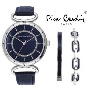 Conjunto Pierre Cardin® PCX5760L252   Relógio   2 Pulseiras
