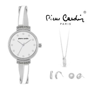 Conjunto Pierre Cardin® PCX6858L296 | Relógio | Colar | 4 Brincos