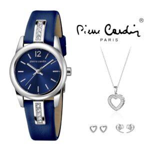 Conjunto Pierre Cardin® PCX5763L255 | Relógio | Colar | 4 Brincos