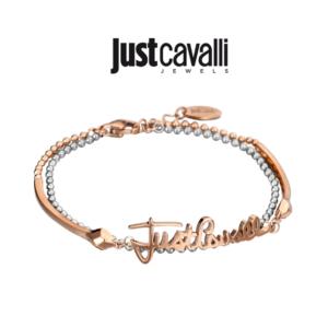 Pulseira Just Cavalli® |Rose Gold | Silver | JCBR00080400