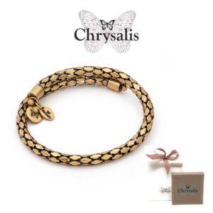 Pulseira Chrysalis® Dourado | Tamanho Adaptável | Com Caixa ou Saco Oferta