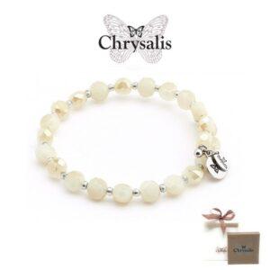 Pulseira Chrysalis® Gaia Rainbow | White Cream| Tamanho Adaptável | Com Caixa ou Saco Oferta