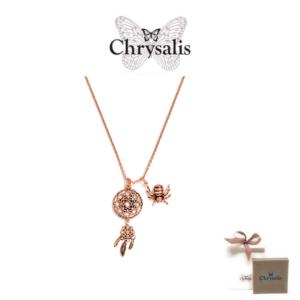 Colar Chrysalis® Dream Catcher | Rosa Gold | 54cm | Com Caixa ou Saco Oferta
