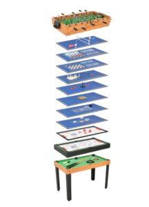 Mesa de jogos 15-em-1 121x61x82 cm cor ácer - PORTES GRÁTIS