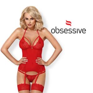Obsessive Corpete Vermelho D-215267   Tamanho S/M