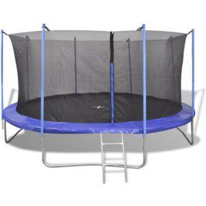Conjunto de trampolim com 5 peças 4,57 m - PORTES GRÁTIS