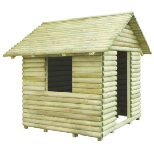Casa de brincar 167x150x151 cm madeira de pinho impregnada FSC - PORTES GRÁTIS