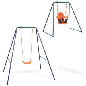 Baloiço independente e baloiço p/ bebés 2-em-1 laranja - PORTES GRÁTIS