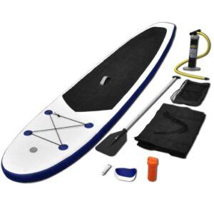 Conjunto prancha de paddle SUP insuflável azul e branco - PORTES GRÁTIS