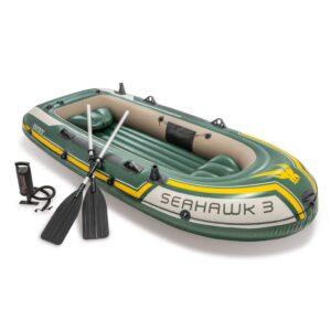 Intex Conjunto barco insuflável Seahawk 3
