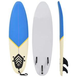 Prancha de surf 170 cm azul e creme - PORTES GRÁTIS