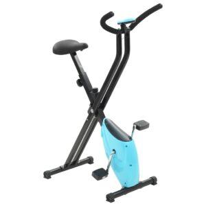 Bicicleta estática X-Bike resistência de correia azul - PORTES GRÁTIS