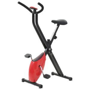 Bicicleta estática X-Bike resistência de correia vermelho - PORTES GRÁTIS