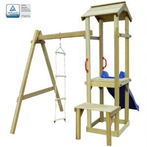 Casa brincar c/ escorrega e escada 228x168x218 cm madeira FSC - PORTES GRÁTIS
