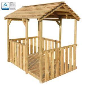 Pavilhão/casa de brincar de exterior 122,5x160x163 cm pinho FSC - PORTES GRÁTIS