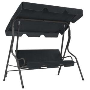 Cadeira de baloiço para jardim 170x110x153 cm antracite - PORTES GRÁTIS