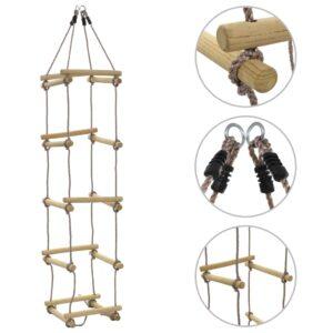 Escada de corda infantil 200 cm madeira  - PORTES GRÁTIS