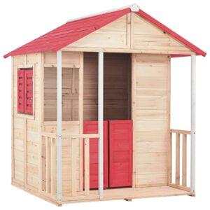 Casa de brincar para crianças madeira vermelho - PORTES GRÁTIS
