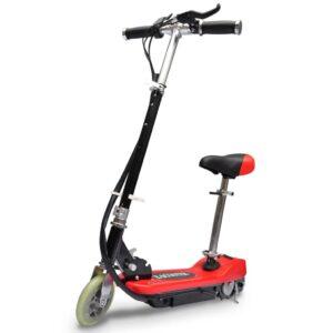 Trotinete/scooter elétrica com assento 120 W vermelho  - PORTES GRÁTIS