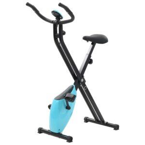 Bicicleta X estática magnética com medição pulso preto e azul - PORTES GRÁTIS
