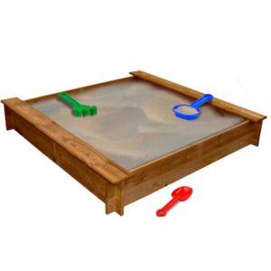 Caixa de areia em madeira FSC quadrada  - PORTES GRÁTIS