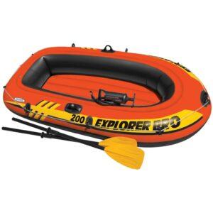 Intex Conjunto Explorer PRO 200 Barco insuflável c/ remos e bomba - PORTES GRÁTIS