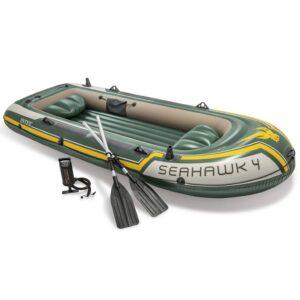 Intex Seahawk 4 Conjunto barco insuflável com remos e bomba 68351NP - PORTES GRÁTIS