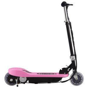 Trotinete elétrica 120 W cor-de-rosa - PORTES GRÁTIS