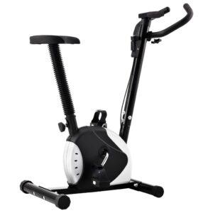 Bicicleta estática com resistência por cinta preto - PORTES GRÁTIS