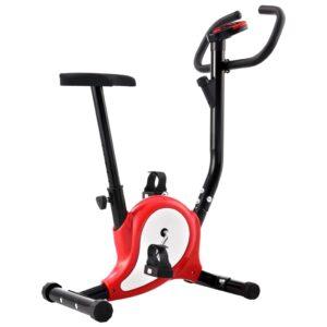 Bicicleta estática com resistência por cinta vermelho - PORTES GRÁTIS
