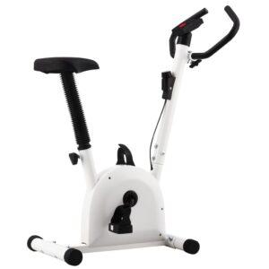 Bicicleta estática com resistência por cinta branca - PORTES GRÁTIS