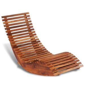 Espreguiçadeira de baloiçar, madeira de acácia - PORTES GRÁTIS
