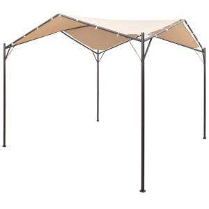 Gazebo tenda com toldo 4x4 m aço bege - PORTES GRÁTIS