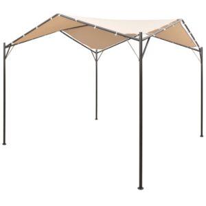 Gazebo tenda com toldo 3x3 m aço bege - PORTES GRÁTIS