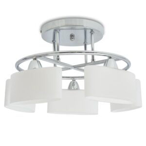 Candeeiro teto abajures de vidro elipsoides 5 lâmpadas E14 200W - PORTES GRÁTIS
