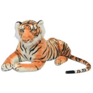 Tigre de peluche, castanho, XXL - PORTES GRÁTIS