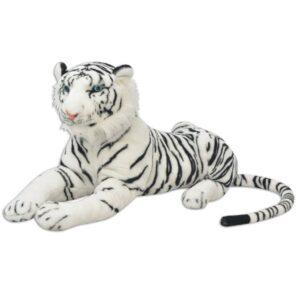 Tigre de peluche, branco, XXL - PORTES GRÁTIS