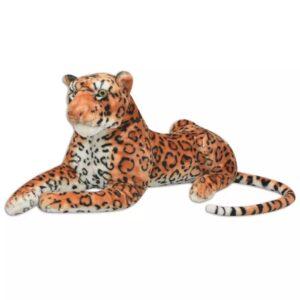 Leopardo de peluche, castanho, XXL - PORTES GRÁTIS