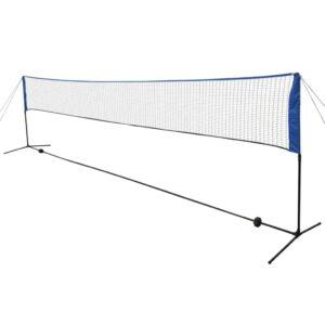 Rede de badminton com volantes 600x155 cm - PORTES GRÁTIS