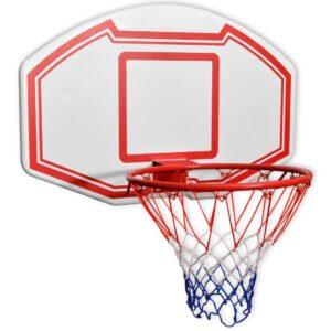 Conjunto tabela basquetebol p/ montar na parede 3 pcs 90x60 cm - PORTES GRÁTIS