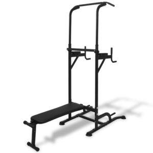 Torre de musculação com banco para abdominais - PORTES GRÁTIS