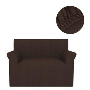 Capa extensível para sofá castanho piqué - PORTES GRÁTIS