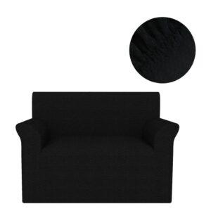 Capa extensível para sofá preto piqué - PORTES GRÁTIS